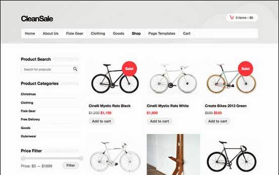 CleanSale - WordPress eCommerce Theme