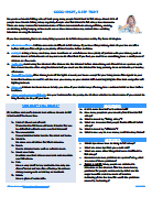PDF Worksheet - Good Night, Sleep Tight - Faiza Raintree
