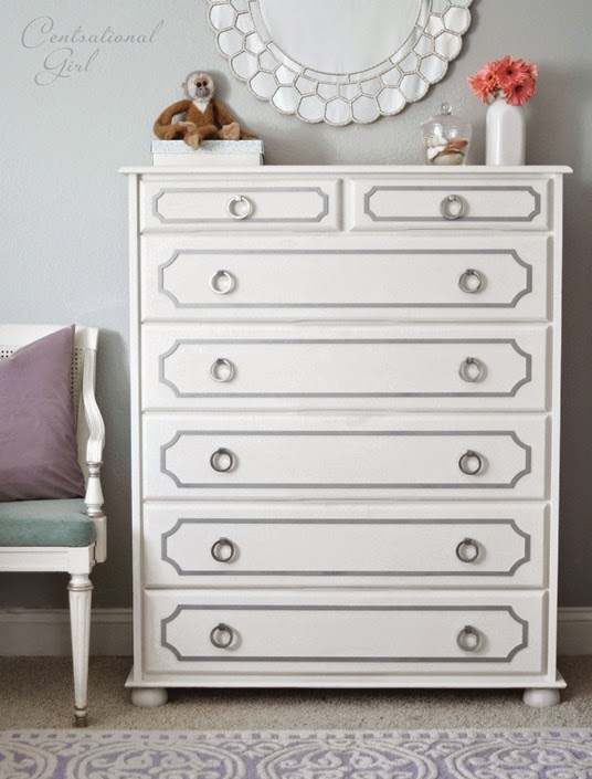 painted-white-dresser-with-gray-overlays