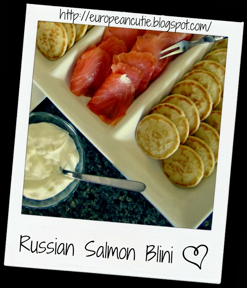 russian salmon blini ♥