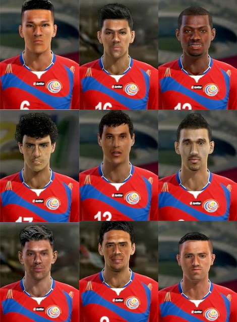 PES 2013 Costa Rica World Cup 2014 Facepack by pablobyk