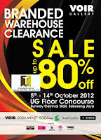 VOIR Gallery Branded Warehouse Clearance Sale 2012