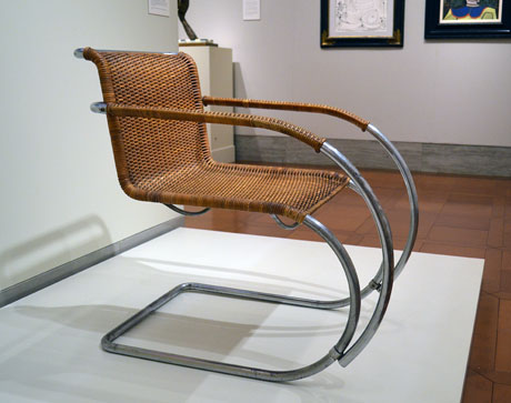 Captivating Manufactured By Bamberg Metallwerkstätten, Berlin, Neukölln Armchair  (MR20), Designed In 1927, Manufactured 1931. Nickel Plated Steel, Steel And  Cane Seat