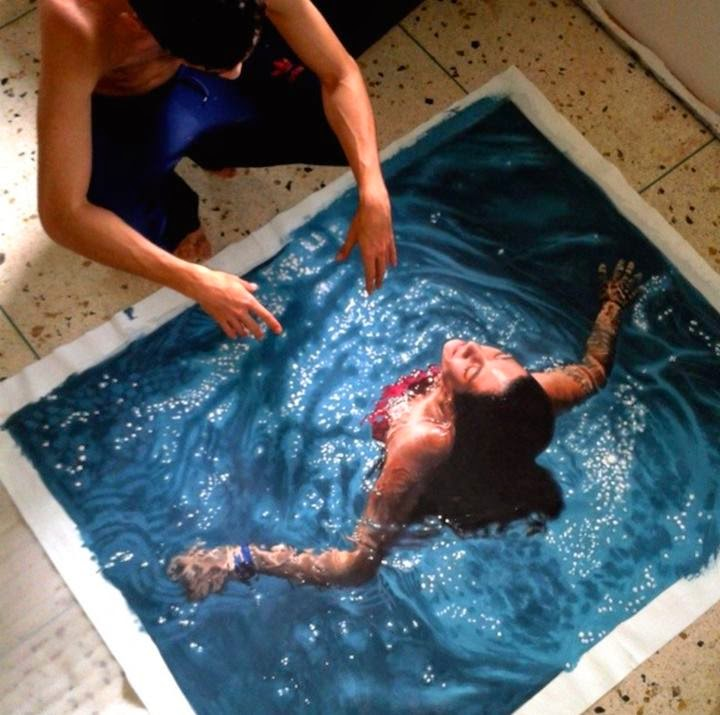 Hyper realistic water images by Gustavo Silva Nuñez, Gustavo Silva is an astonishingly talented artist from Valencia, Venezuela. It's hard to believe, but it's a picture!