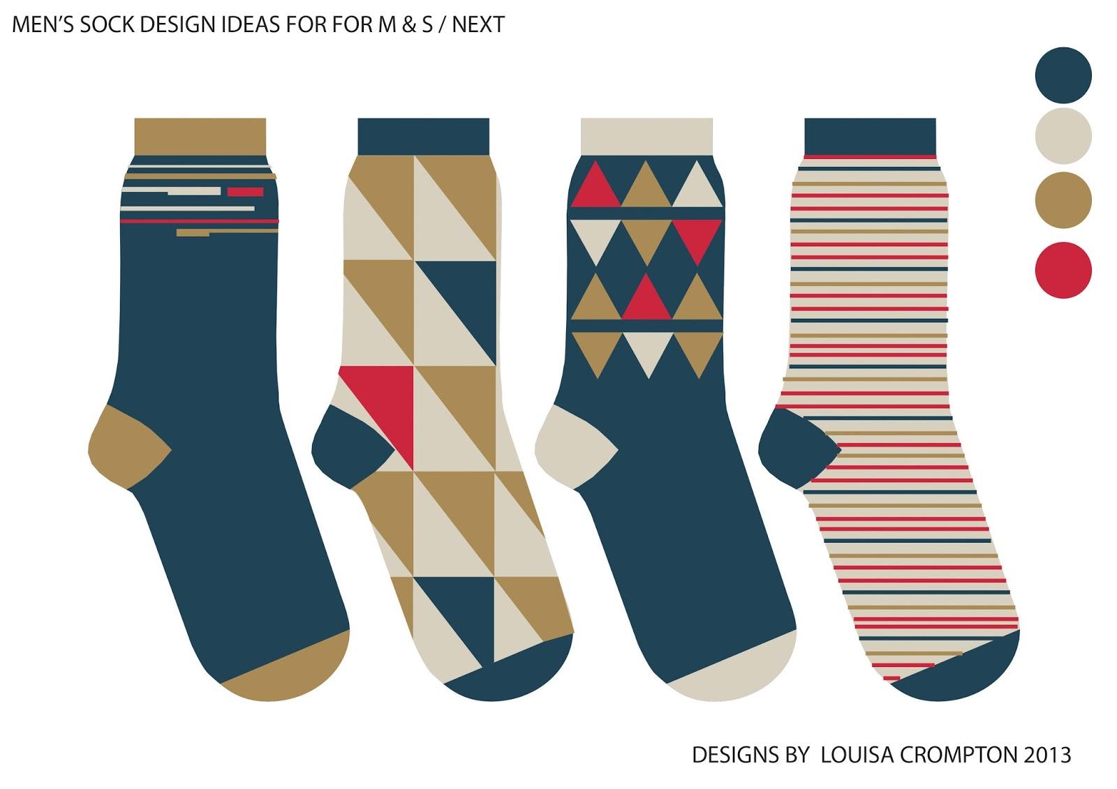 Sock Template Illustrator Created a sock inspiration