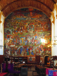 Juan O'Gorman Mural at the Public Library in Patzcuaro