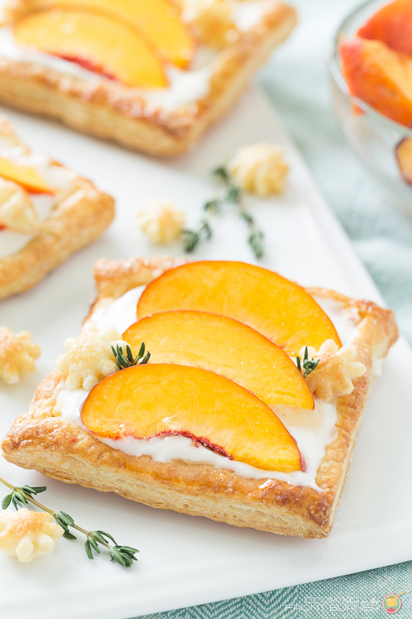 This peach tart recipe is bursting with fresh peaches, a creamy ...