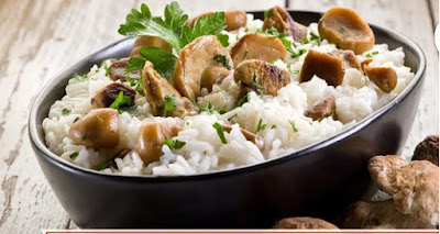 Rice with vegetables and mushrooms recipe