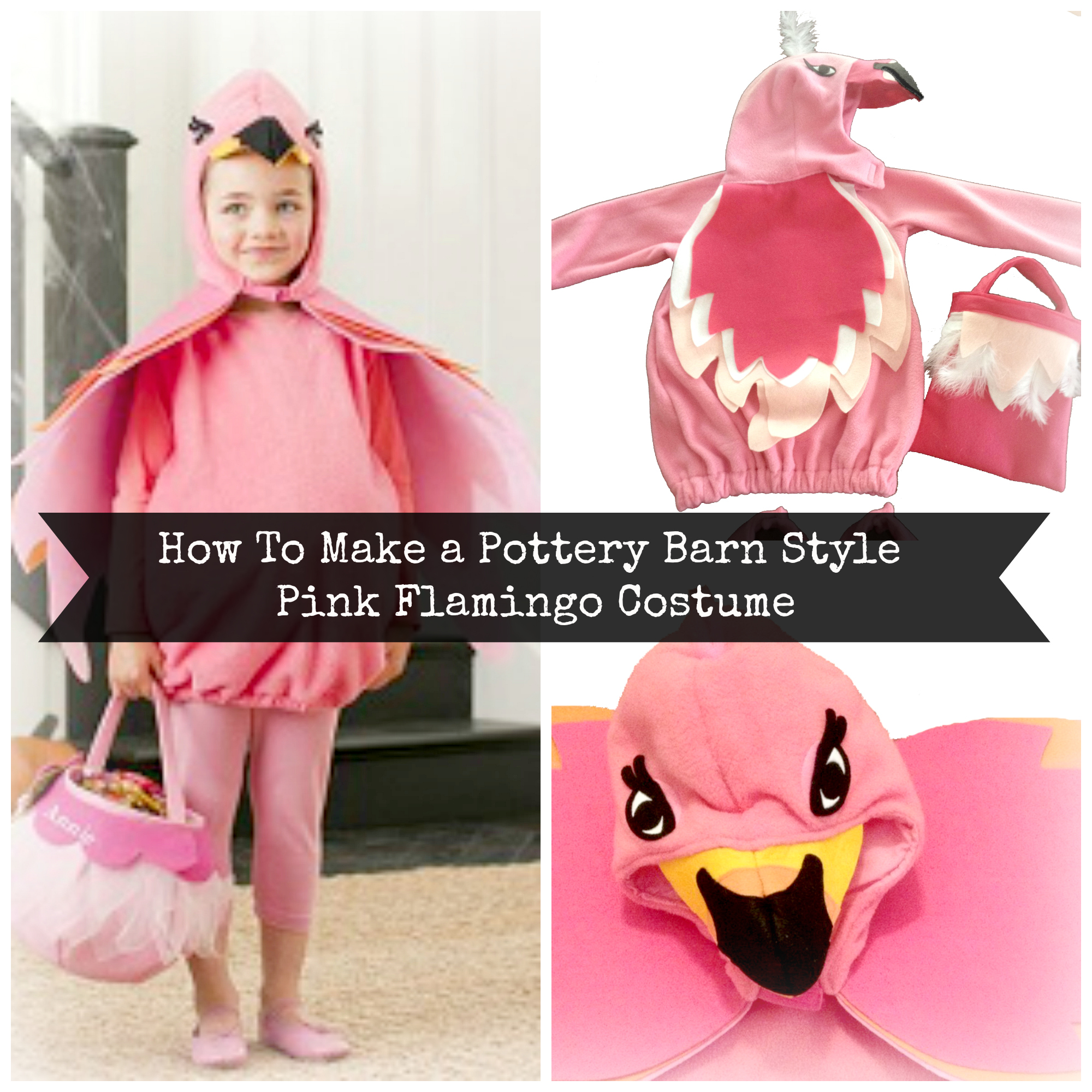 Pink flamingo Costume tutorial