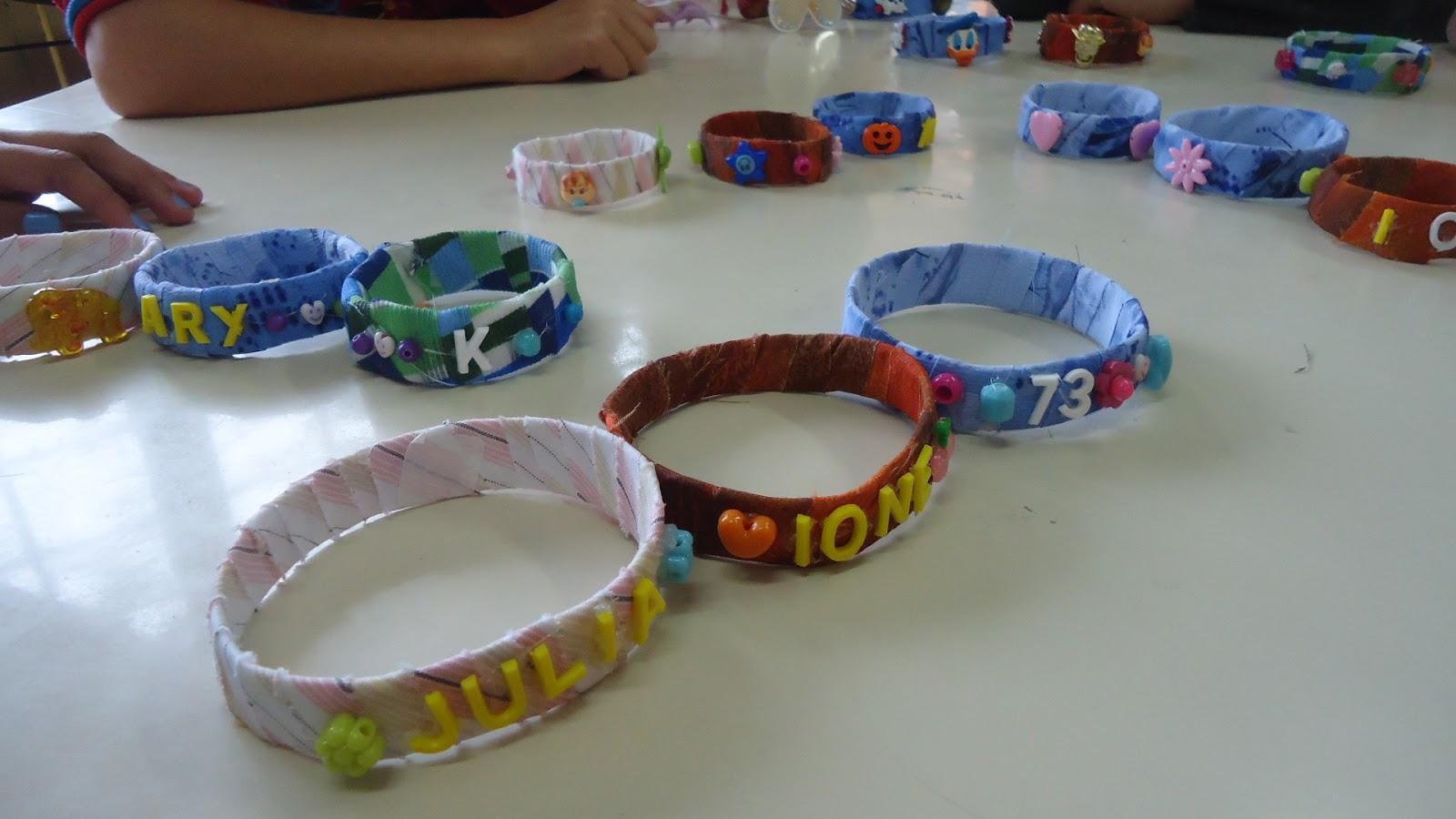 Artesanato Com Argila Simples ~ Escola BERTHOLDO OPPITZ Confecç u00e3o de pulseiras na oficina de artesanato