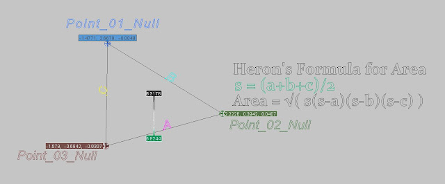 Herons formula for area in softimage
