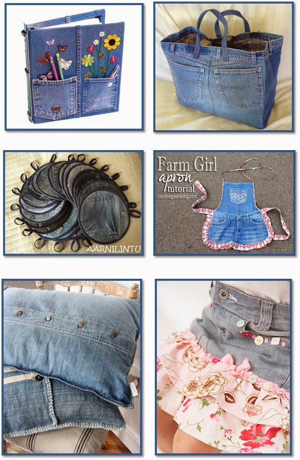 let it shine 36 fun projects from old denim jeans