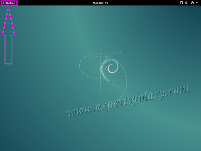 Debian Linux Main Screen