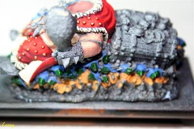 Pintura de la capucha los Gnoblars de la derecha de Grasientus Dientetoro
