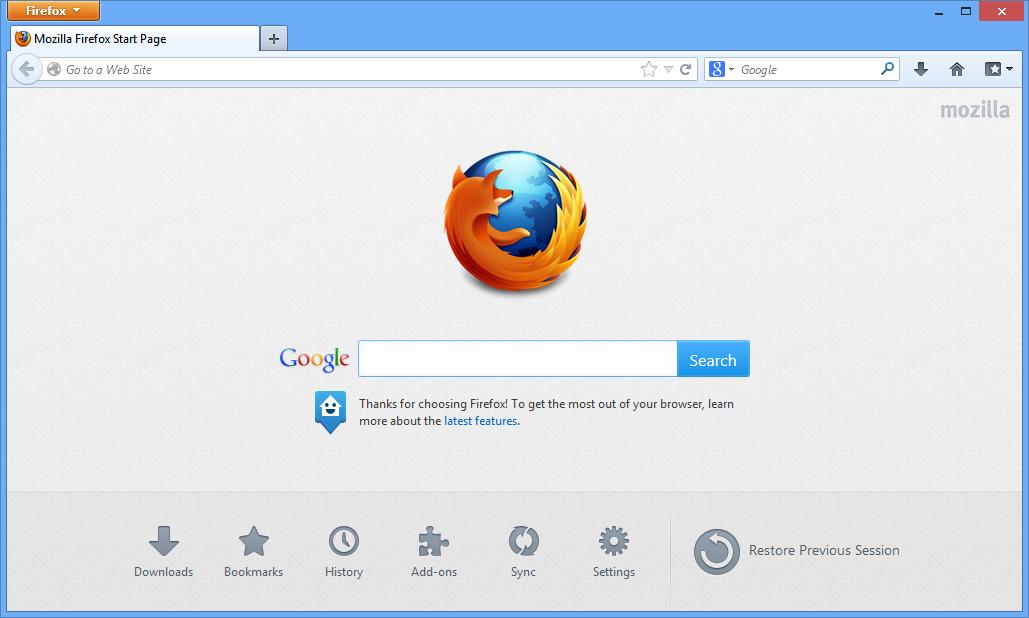 Firefox Windows Vista