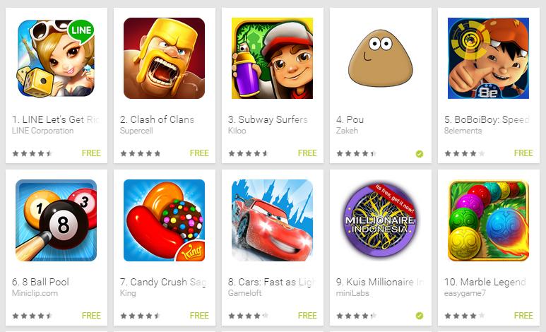 10 Game Terbaik Gratis di Android tahun 2015