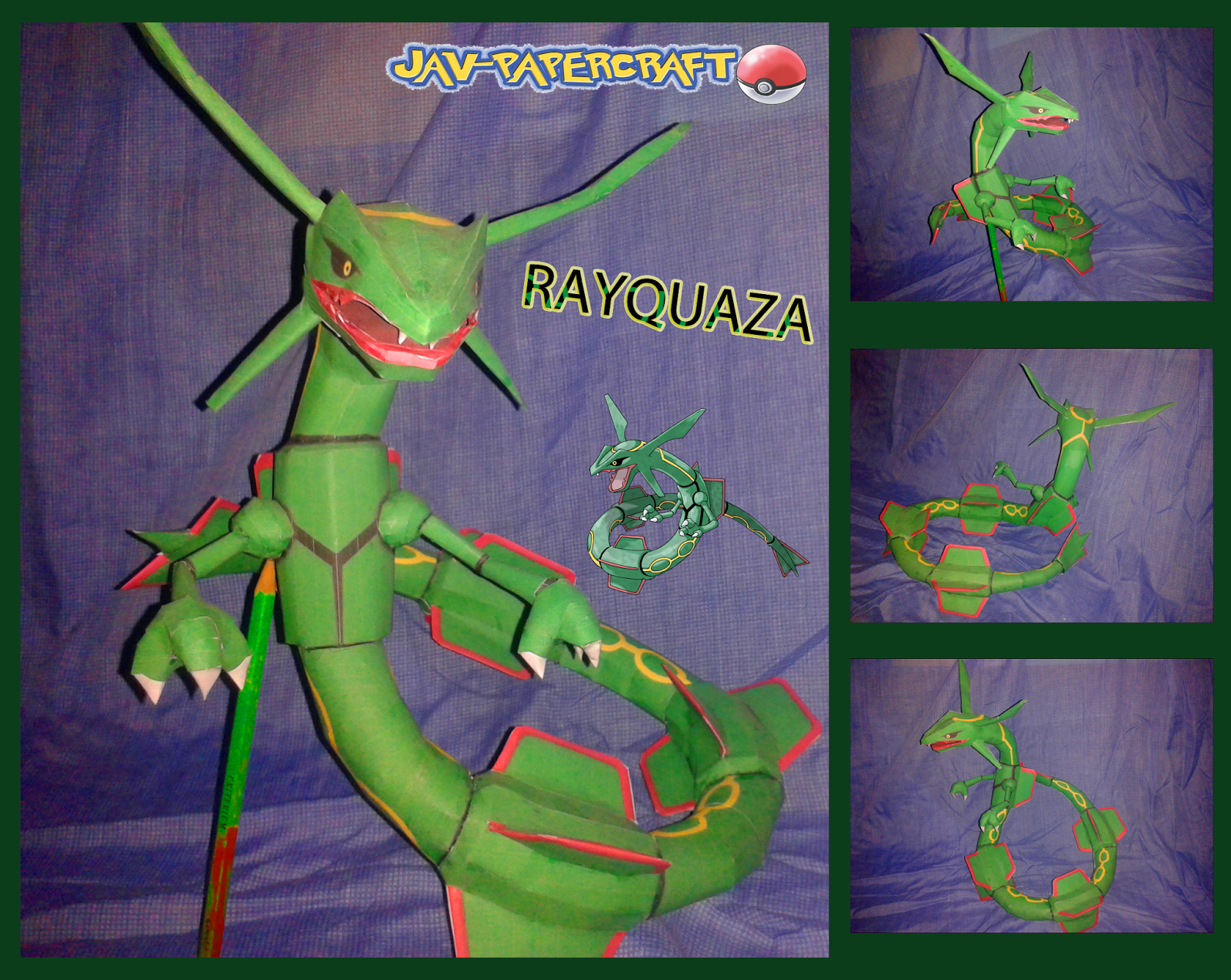 Pokemon Rayquaza Paper Model