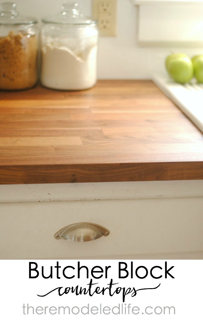 The Remodeled Life Installing Ikea Butcher Block Counters