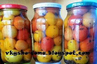 Разноцветные помидоры на зиму