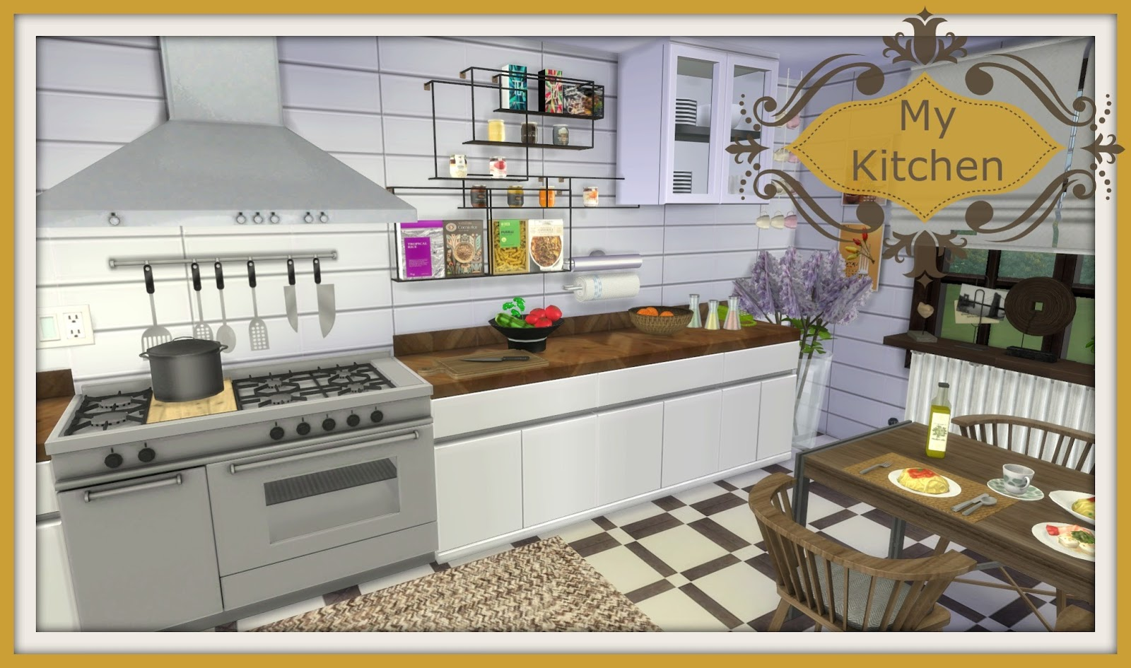 my new kitchen hope you like the colours and the cc