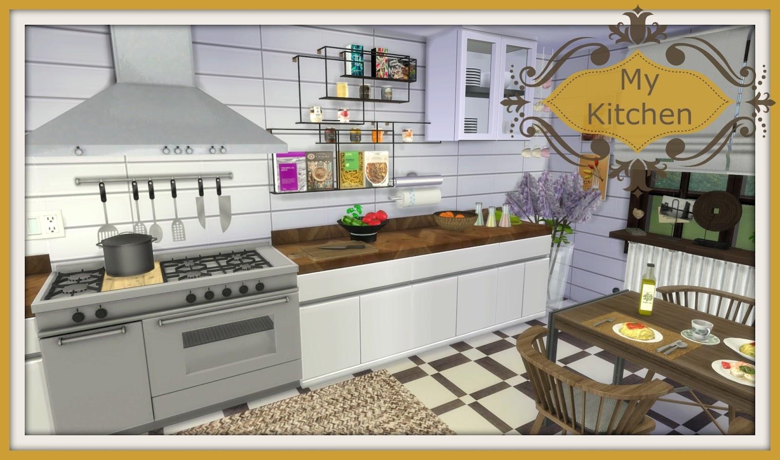 Sims 4 - My Kitchen - Dinha