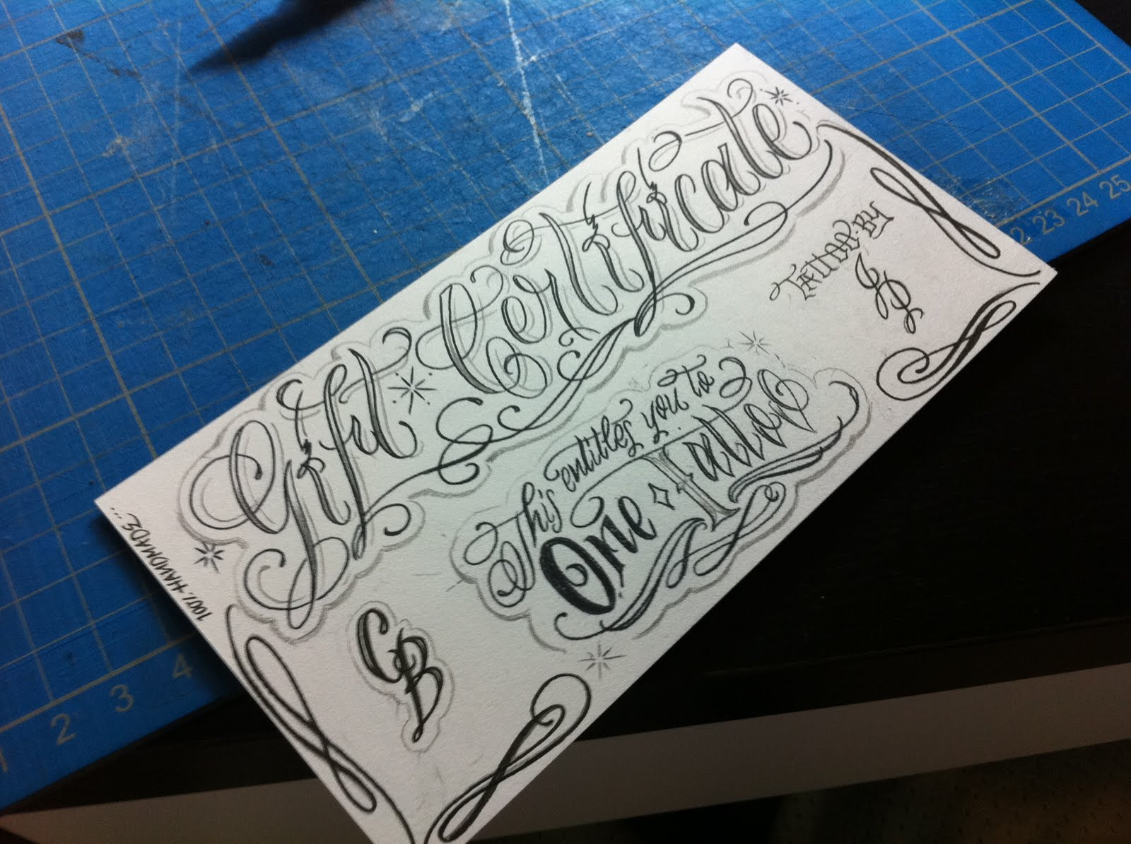 Tattoo Business Card Templates | Business Card Sample