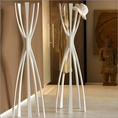 coat stand, modern, white