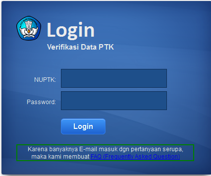 Login Verifikasi Data PTK