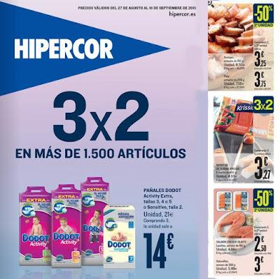 Hipercor Ofertas 3x2 Septiembre 2015