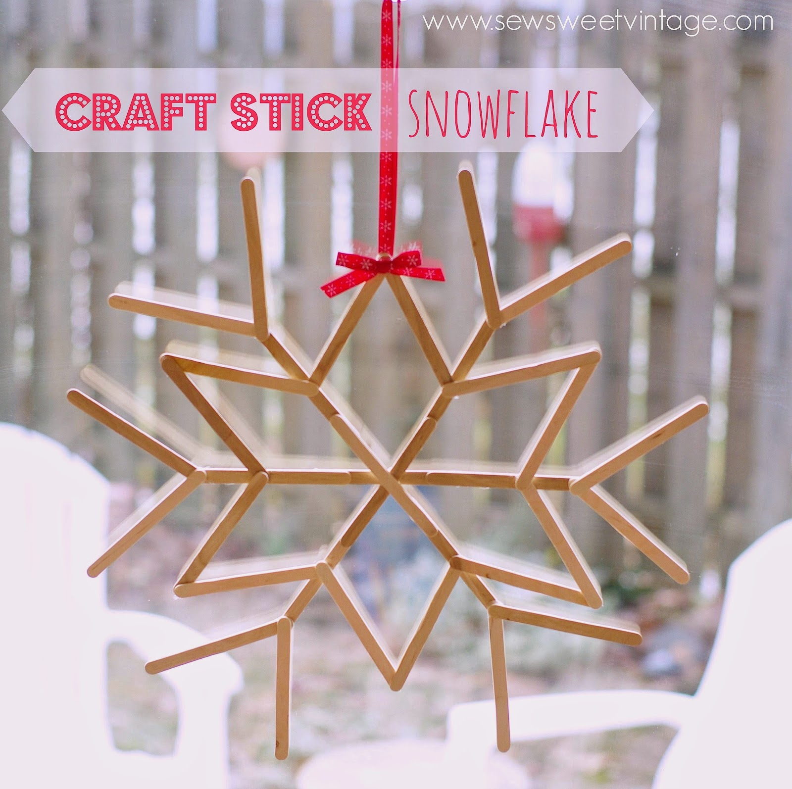 how to make a craft stick snowflake