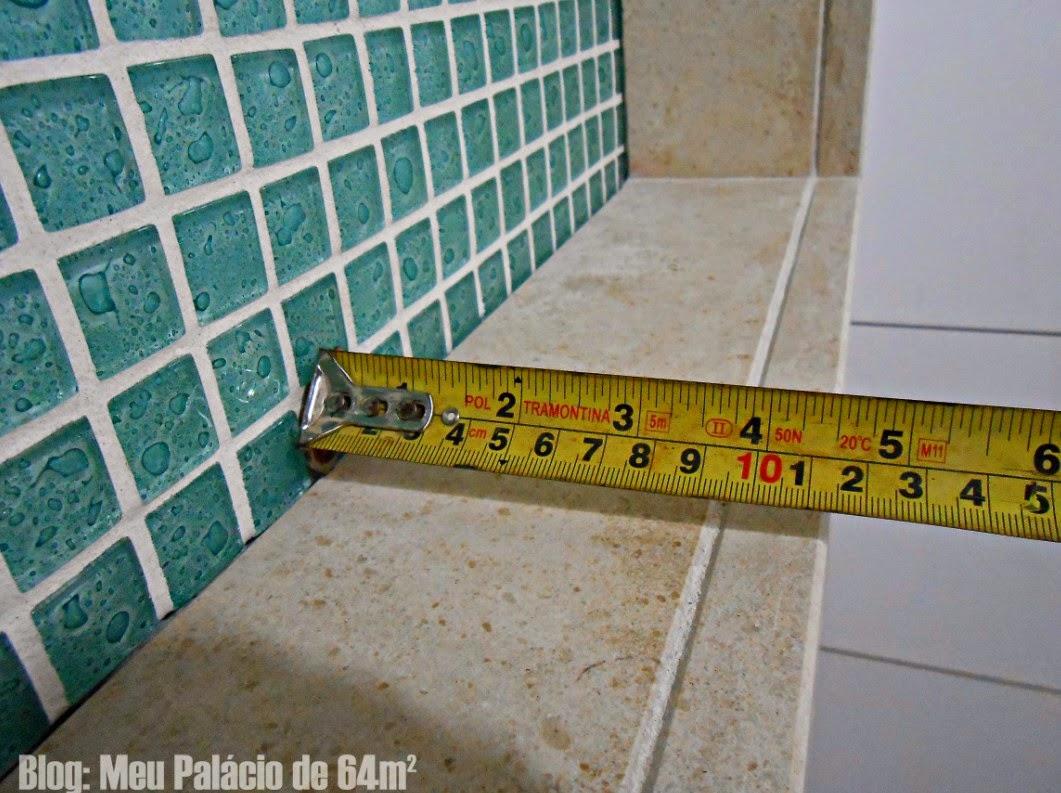 Meu Palácio de 64m² Nicho do banheiro (em detalhes) -> Nicho Box Banheiro Medidas