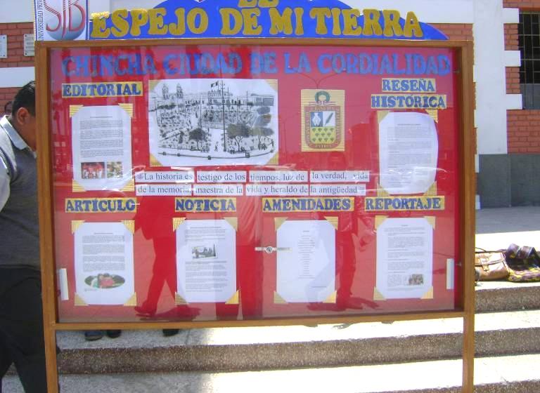 Concurso de peri dicos murales chincha diario verdad for Diario mural fiestas patrias chile