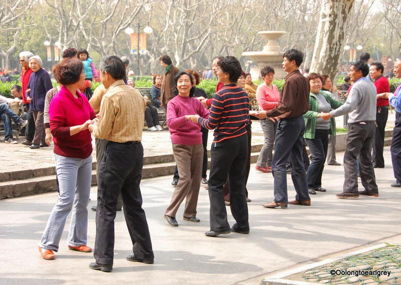 Dancing, Fuxing Park, Shanghai China