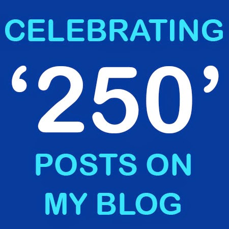 250 Posts on Blog: Day 83 of 100 Happy Days Challenge