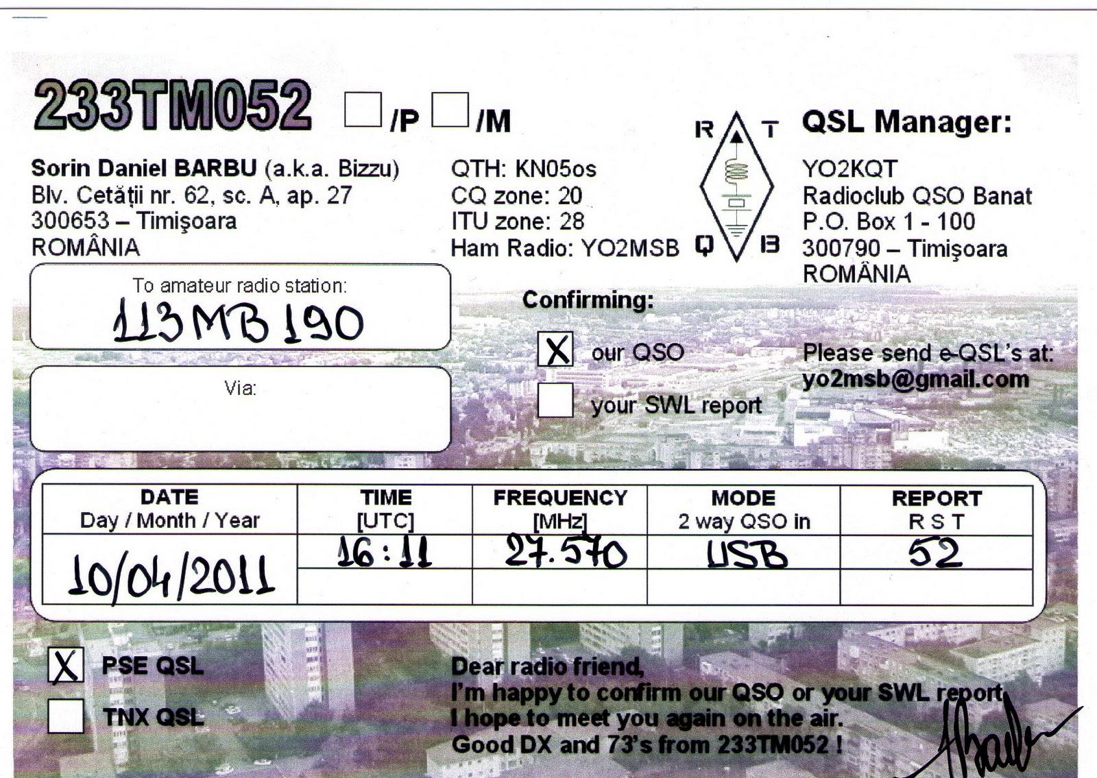 113MB190 11M Band Web Blog: September 2011