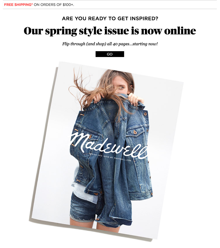 j crew aficionada  madewell spring 2013 catalog  online