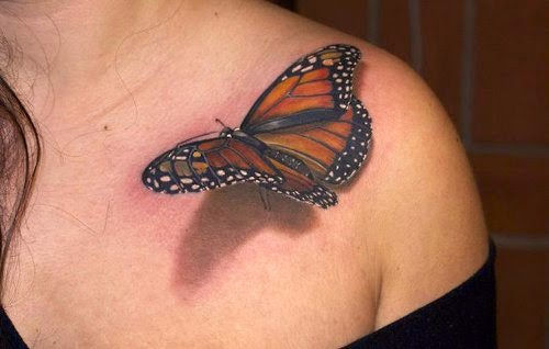 3D Butterfly Tattoos Design