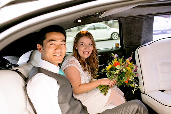 wedding / limo