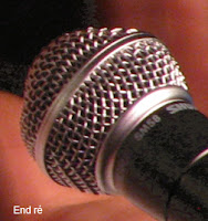 Photo de près d'un micro en métal