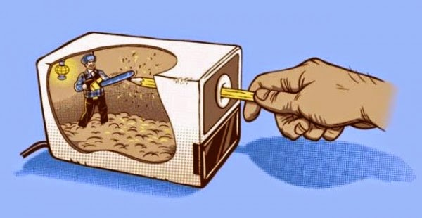 apontador eletronico por dentro