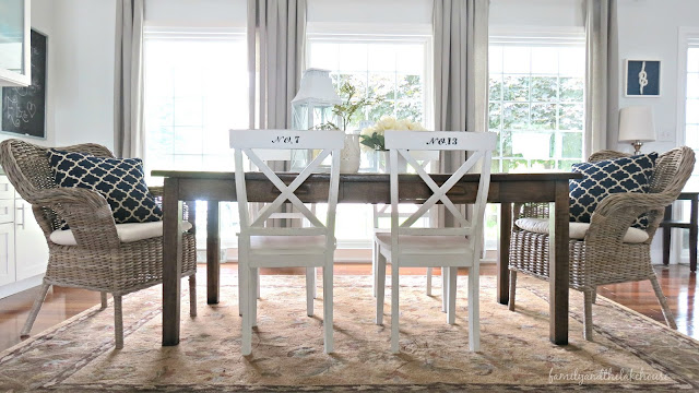 Family and the Lake House - Stenciled Number Chairs