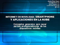 presentación internet con smartphone