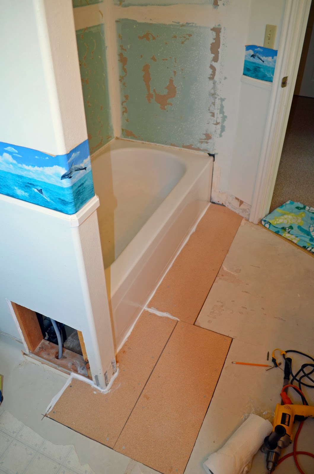 One Thing Leads To Another Mostly DIY Bathroom Repair And Remodel - How to repair bathroom floor