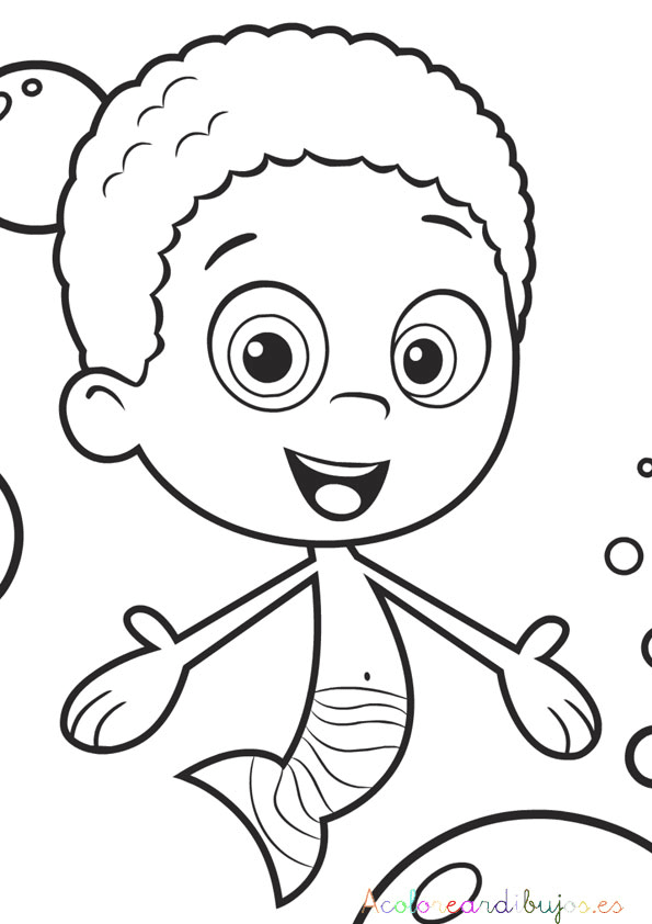 Colorear a goby de bubble guppie