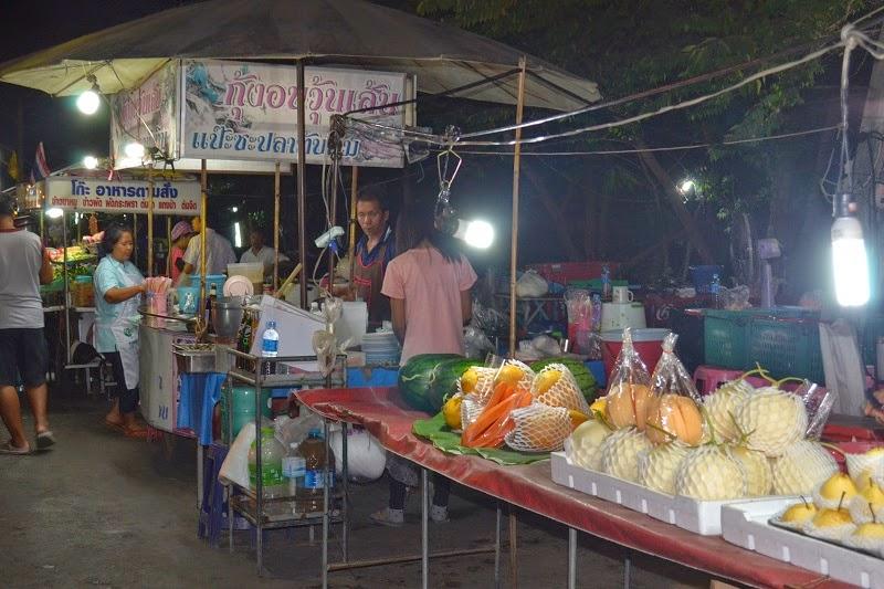 Ayutthaya, Thailande, royaume de siam, marché de nuit