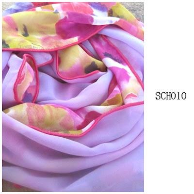 shawl chiffon 2 layer lavender
