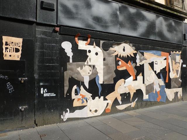 Bernie Reid Lino graffiti Glasgow