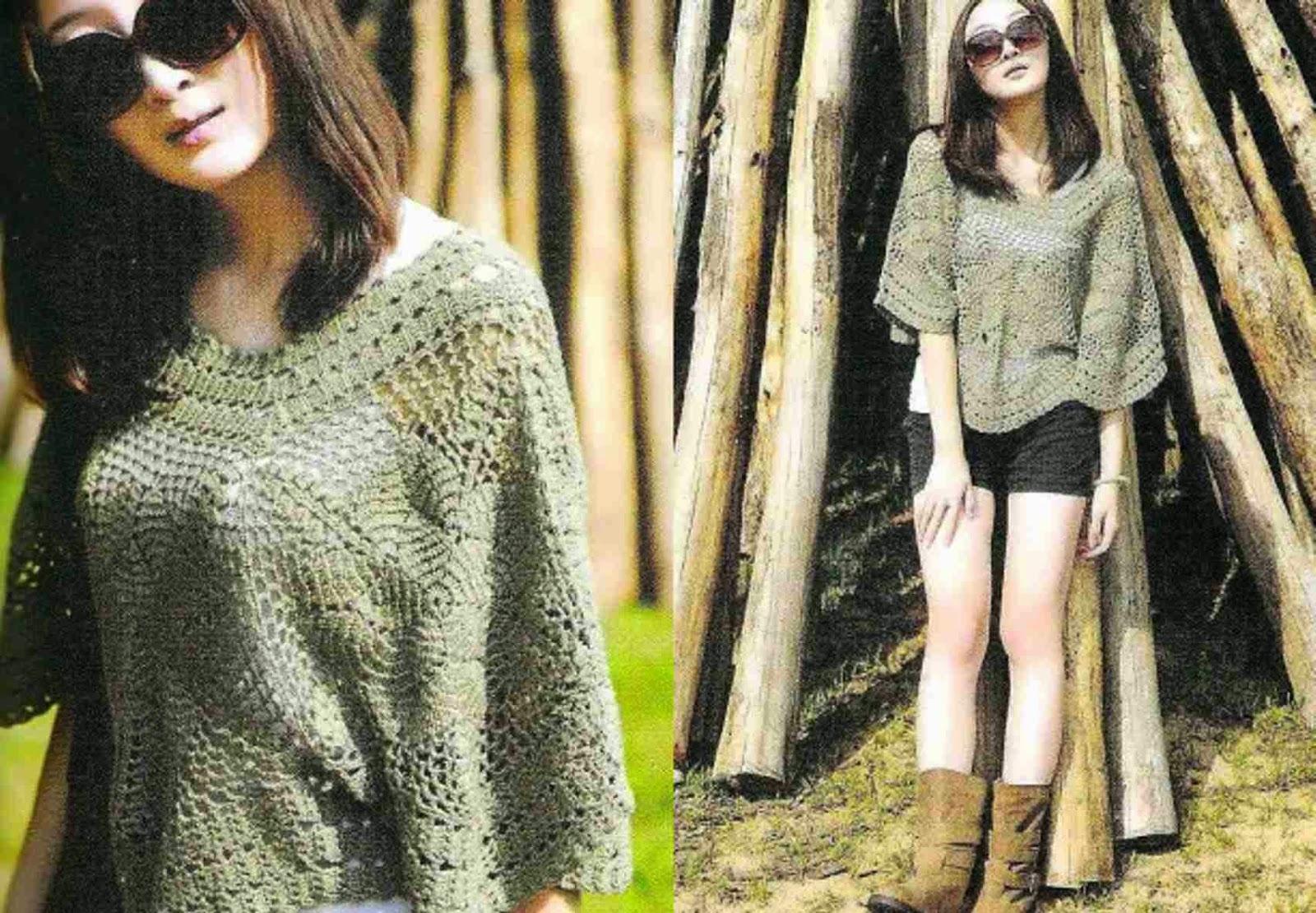 Chal Gris a Crochet