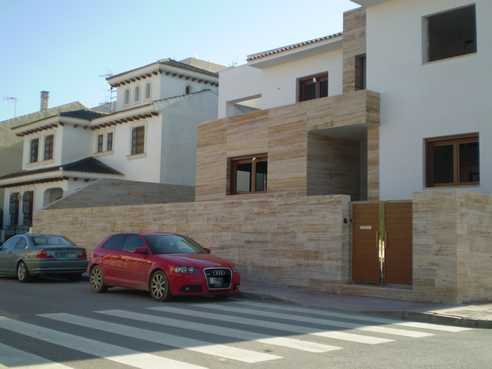 Piedra para todos opciones del travertino en fachada - Piedra caliza para fachadas ...