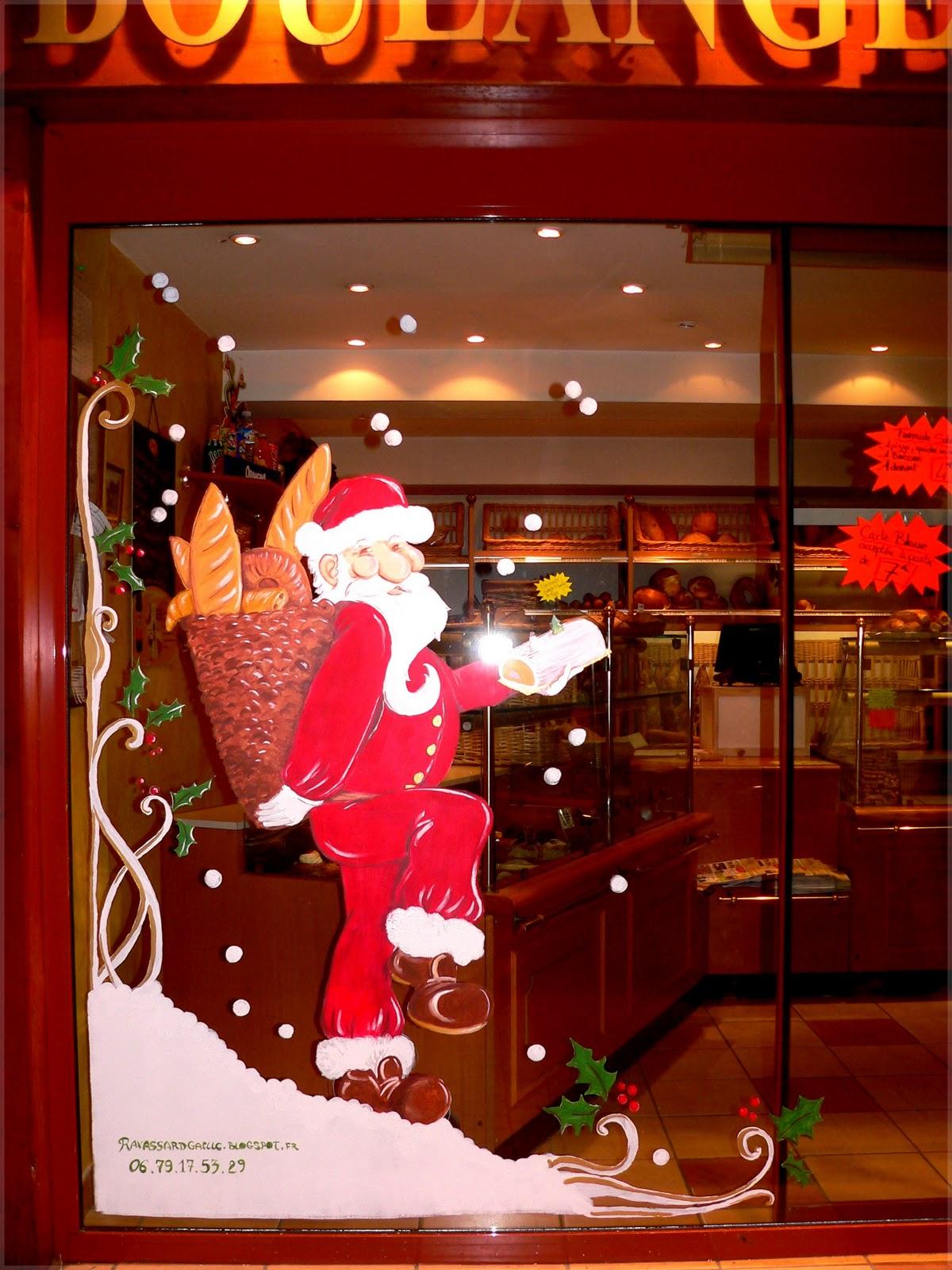 Ravassard ga lle cr ation vitrine de no l boulangerie - Decoration de vitrine de noel ...